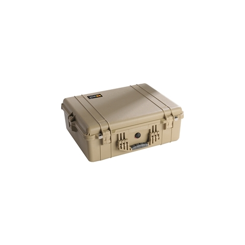 Pelican 1600 Case with Padded Dividers (Desert Tan)