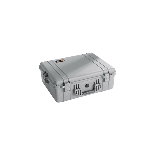 Pelican™ 1600 Case with Padded Dividers (Silver)
