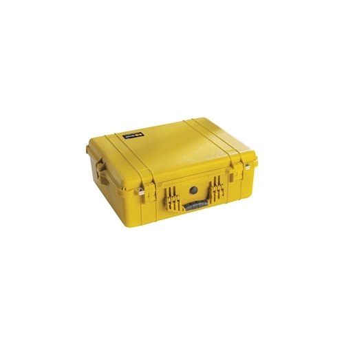 Pelican 1600 Case with Padded Dividers (Yellow)